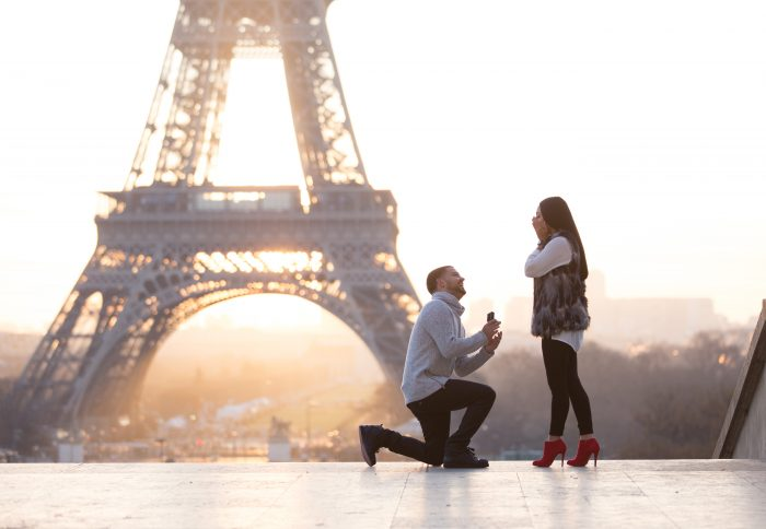 Allie's Proposal in Paris, France