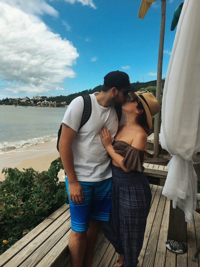 Carolyna and Alexis's Engagement in Jurerê, Brazil