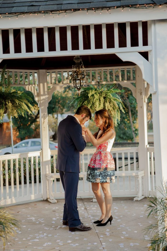 Raegan and Jake's Engagement in Gazebo in Pittsburg, Texas