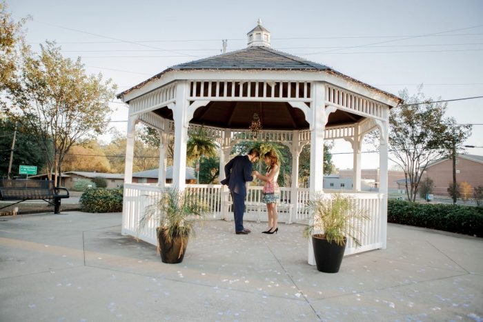Engagement Proposal Ideas in Gazebo in Pittsburg, Texas