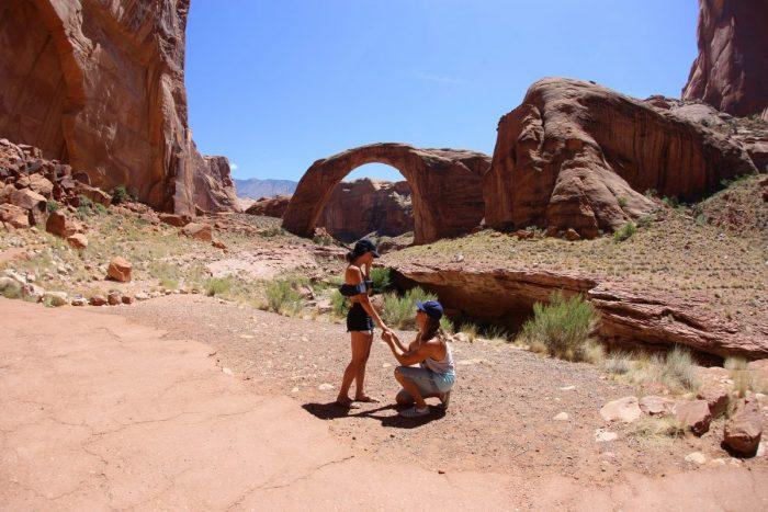 Wedding Proposal Ideas in Rainbow Bridge, Lake Powell, Arizona