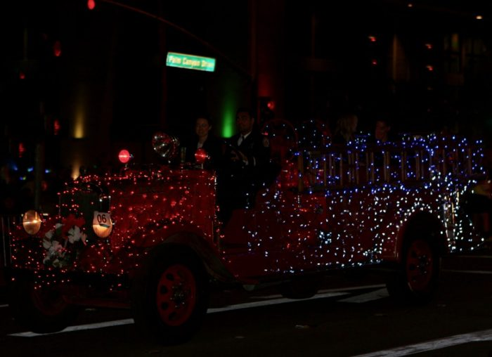 Ciera's Proposal in Palm Springs Festival of Lights Parade