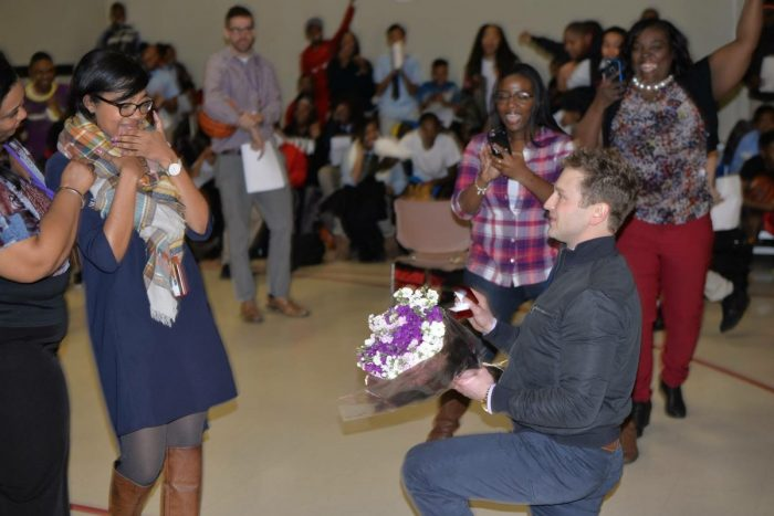 Wedding Proposal Ideas in I'm an Assistant Principal so he came to my school on the west side of Chicago