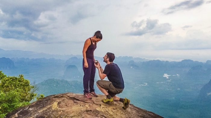 Engagement Proposal Ideas in At the top of a mountain in Krabi, Thailand