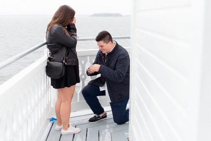 Emma and Michael's Engagement in Thomas Point Shoal Lighthouse