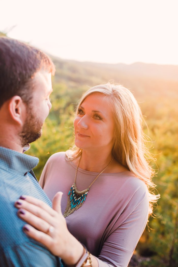 Bride's Proposal in Butterfly Gap Retreat, Tennessee