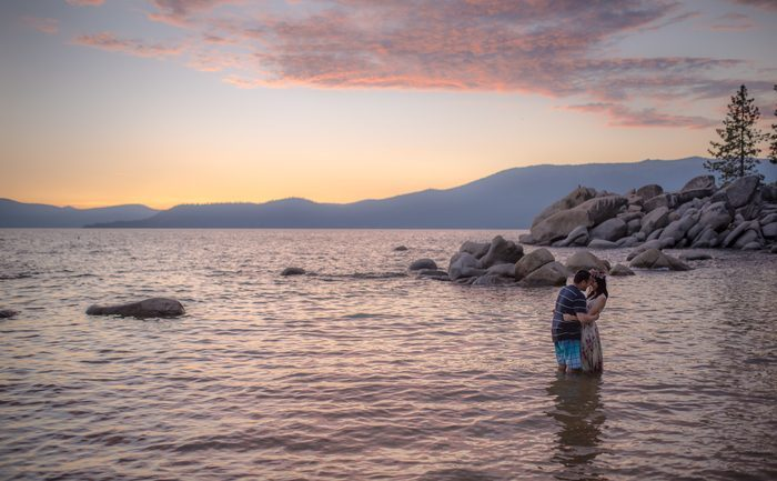 Bride's Proposal in Lake Tahoe