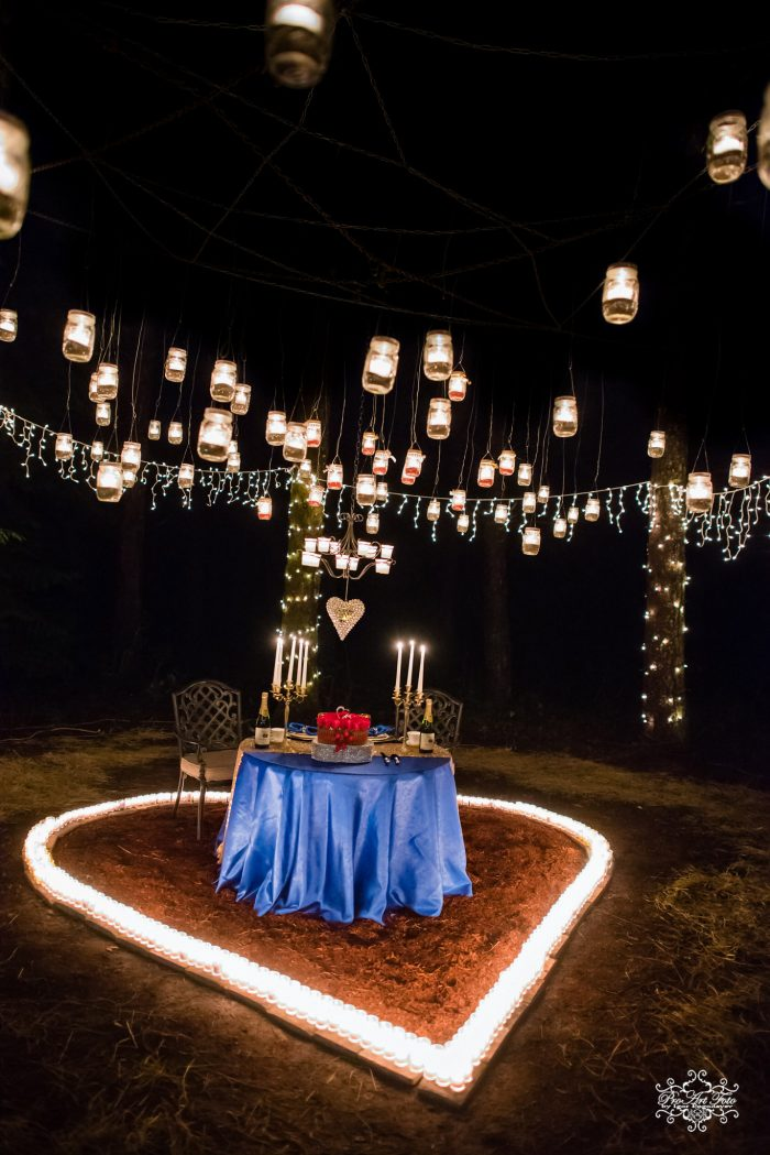 Engagement Proposal Ideas in Cousin's backyard forest