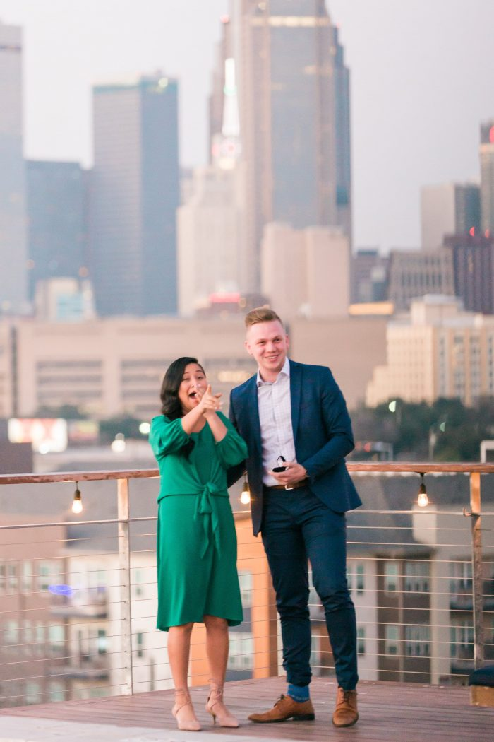 Alexandria and Daylen's Engagement in NYLO Dallas South Side