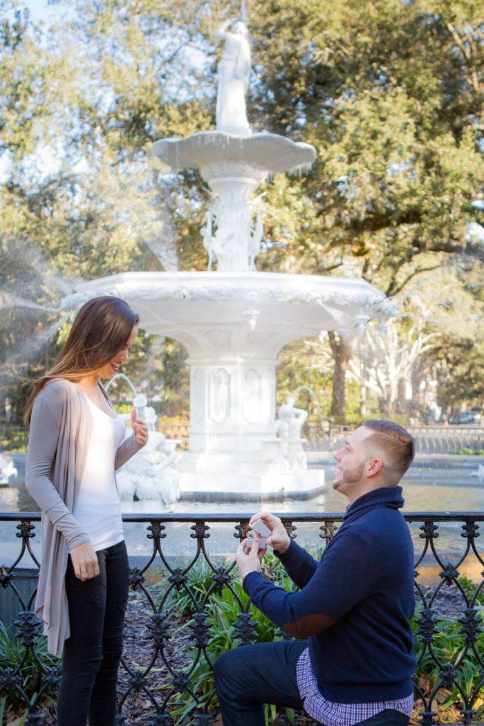 Wedding Proposal Ideas in Forsyth Park, Savannah, GA