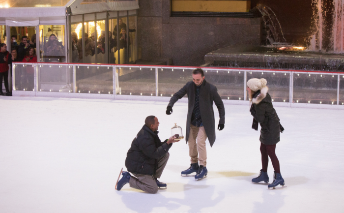 Sarah and Beau's Engagement in Rockefeller Center, New York