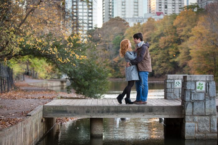 Elizabeth and Joshua's Engagement in Piedmont Park in Atlanta, Georgia