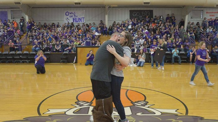 Hanna's Proposal in SCHOOL PEP RALLY