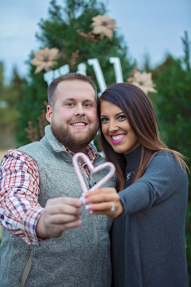 Megan and Hunter's Engagement in Christmas Tree Farm