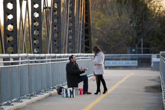 Proposal Ideas Dallas Love Locks Bridge