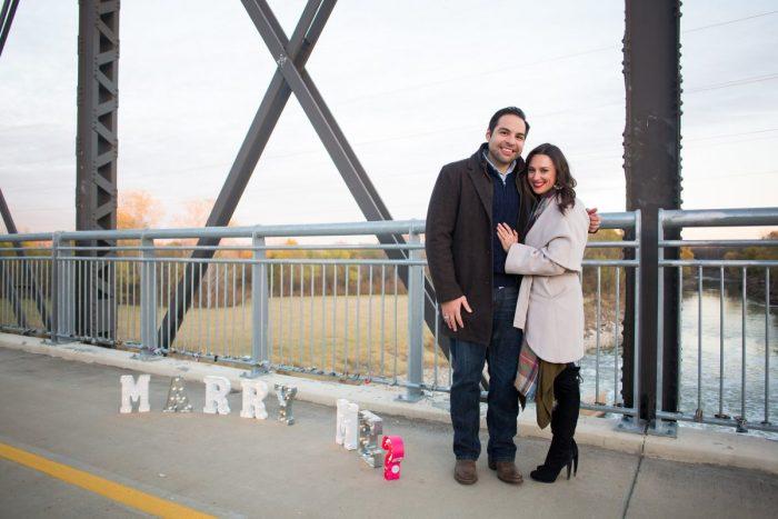 Wedding Proposal Ideas in Dallas Love Locks Bridge