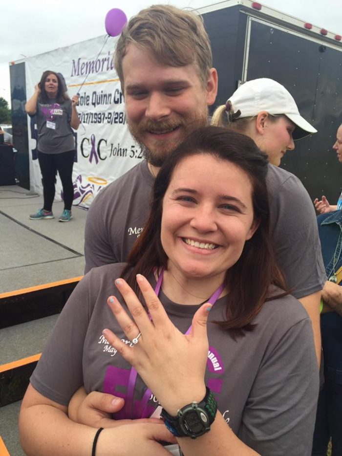 Alexandra and Tyler's Engagement in Sole's For Cole 5k