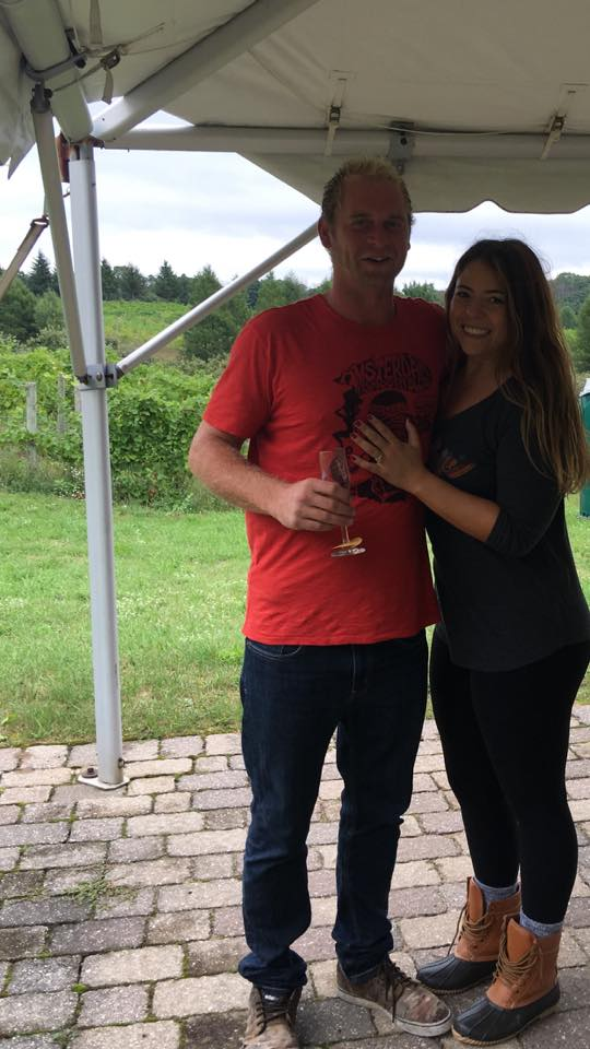 Marriage Proposal Ideas in L. Mawby Vineyards, Suttons Bay, MI