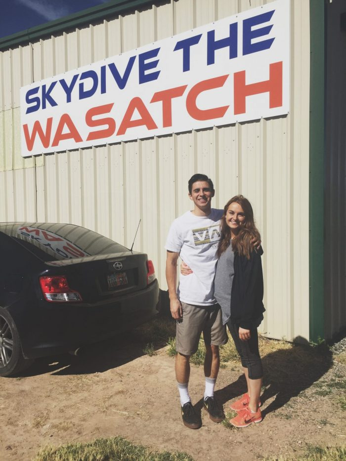 Emily and Braden's Engagement in Skydive the Wasatch - Nephi, Utah