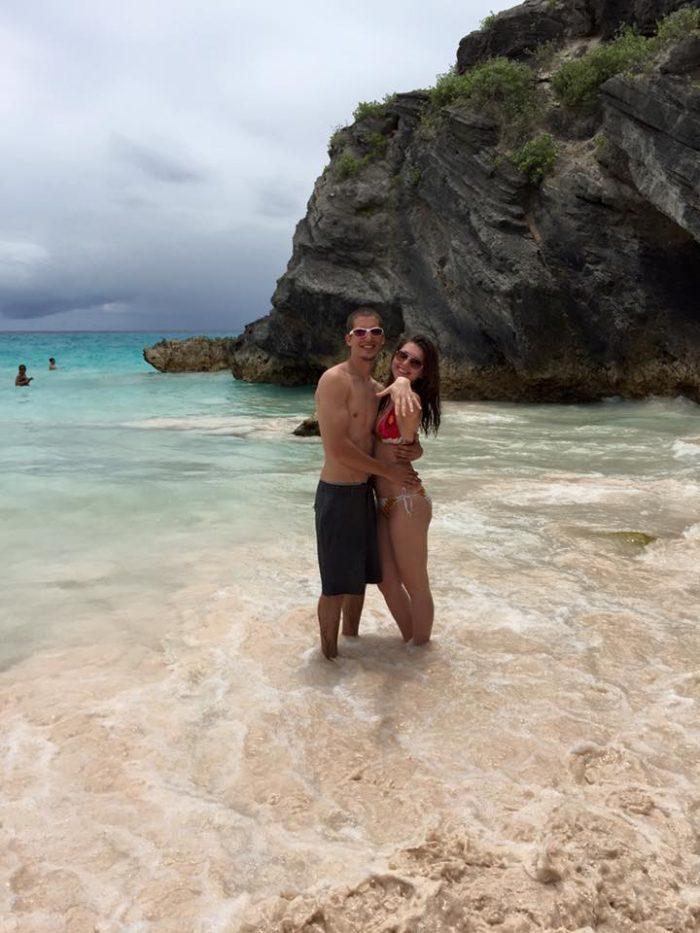 Sara's Proposal in Horseshoe Bay, Bermuda