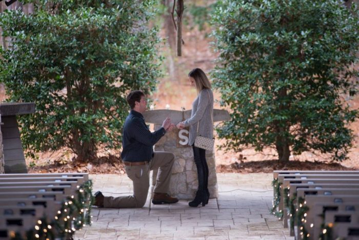 Marriage Proposal Ideas in Church in the Pines, Lake Martin, Alabama