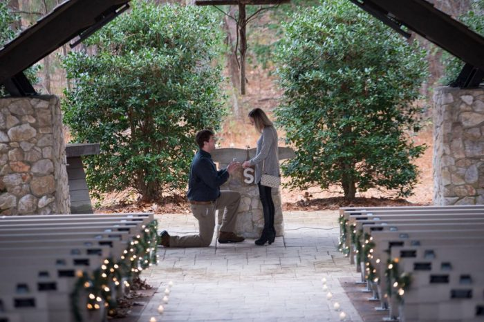 Where to Propose in Church in the Pines, Lake Martin, Alabama