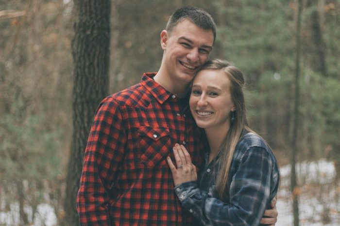 Riley and Austin's Engagement in Provin Trails Park Grand Rapids, Michigan