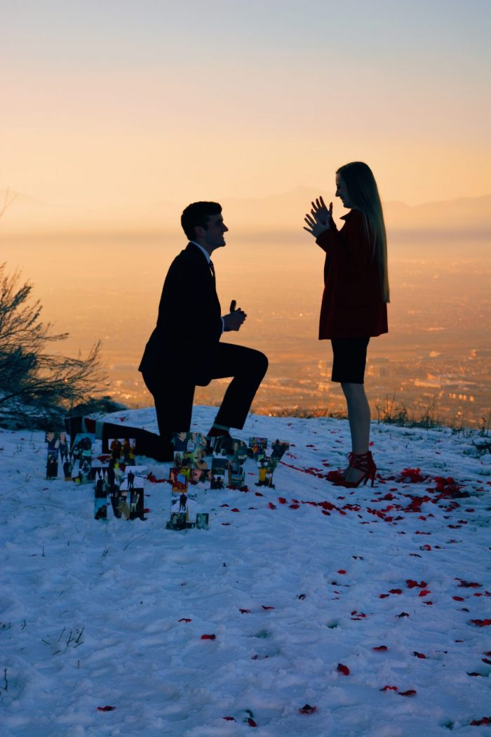 Marriage Proposal Ideas in Utah Valley Mountains