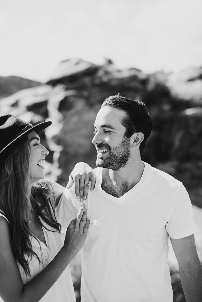 Austin and Randall's Engagement in Toas, NM