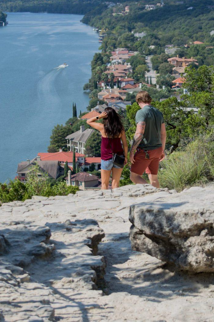 Clarissa Leann and James Clinton's Engagement in Mt. Bonnell, Austin Texas