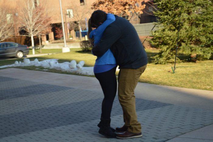 Kimberly and Michael's Engagement in University of Minnesota Masonic Children's Hospital