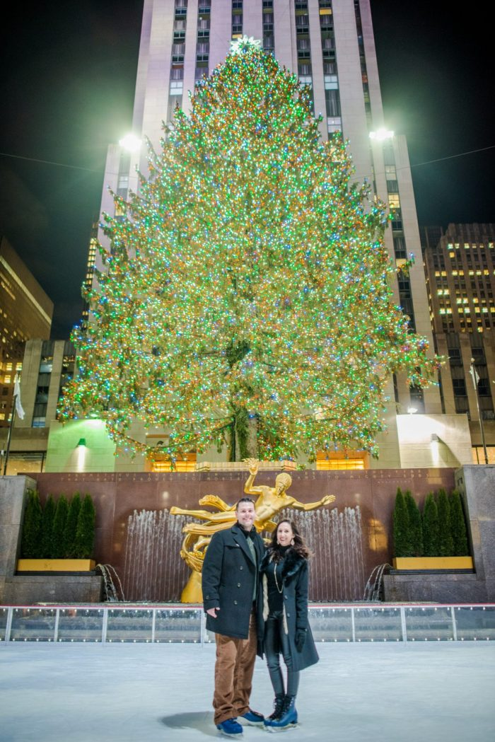 Chelsea and Joseph's Engagement in Rockefeller Center, New York City