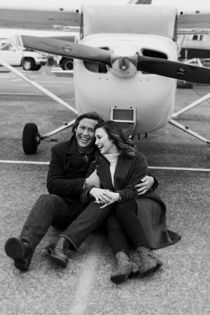 Hannah's Proposal in Seattle, Washington at the Renton Municipal Airport