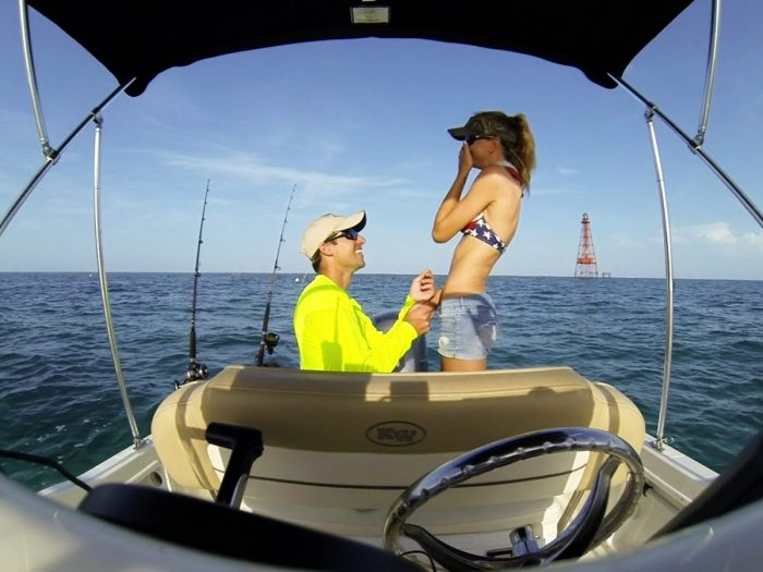 Tiffany and Colin's Engagement in Sombrero Reef, Marathon FL Keys