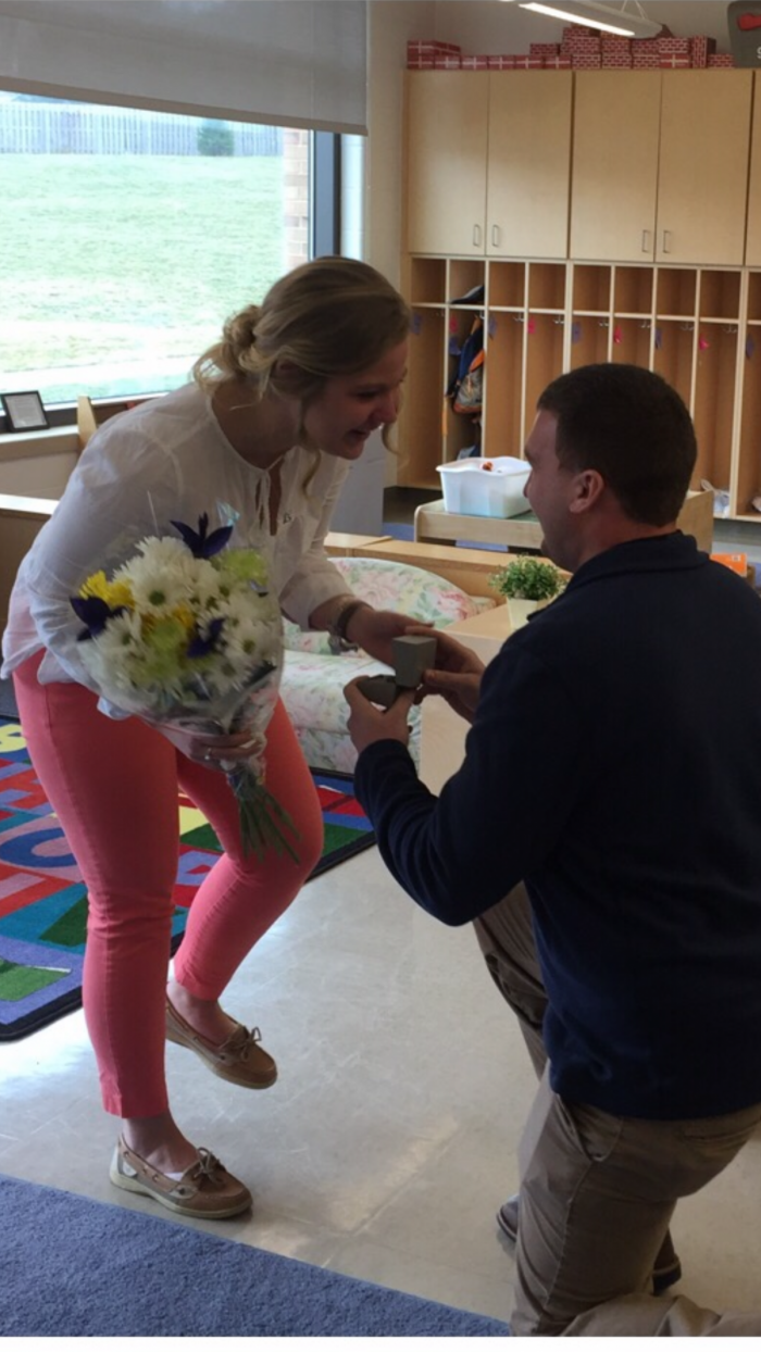 Where to Propose in While I was teaching at school!