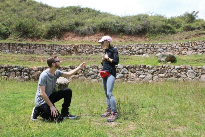 Marriage Proposal Ideas in Maras, Peru at the Moray archeological site