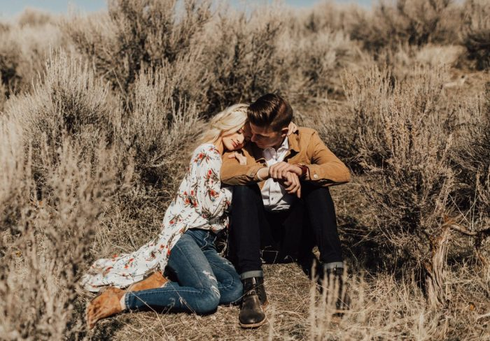 Aynsley and Mitchell's Engagement in Salem Utah pond