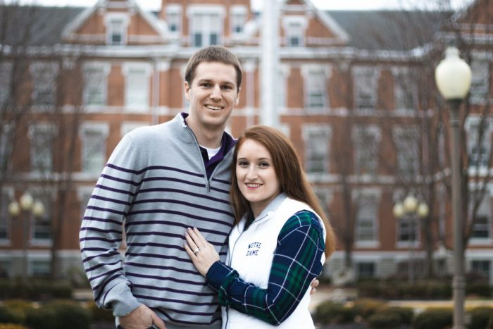 Haley and John's Engagement in The University of Findlay
