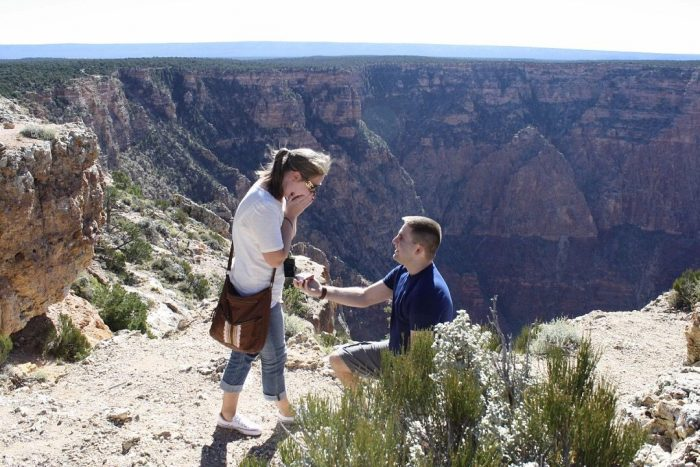 Heather's Proposal in The Grand Canyon
