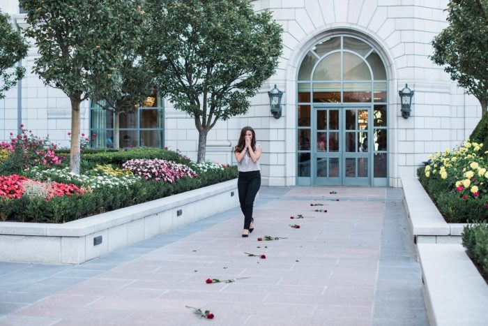 Marriage Proposal Ideas in The Grand America Hotel