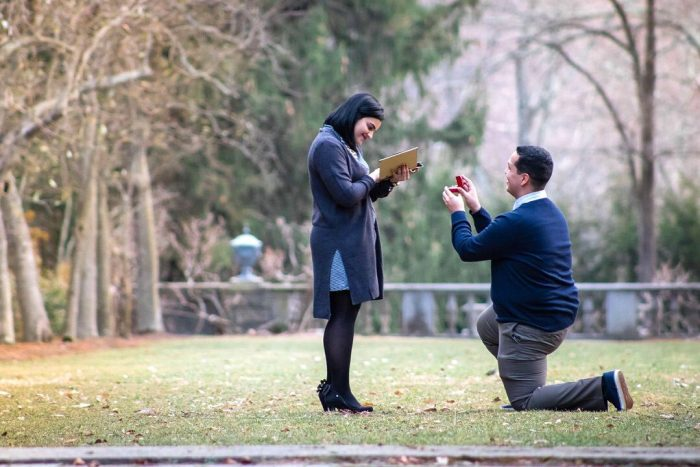 Wedding Proposal Ideas in Ringwood Botanical Garden