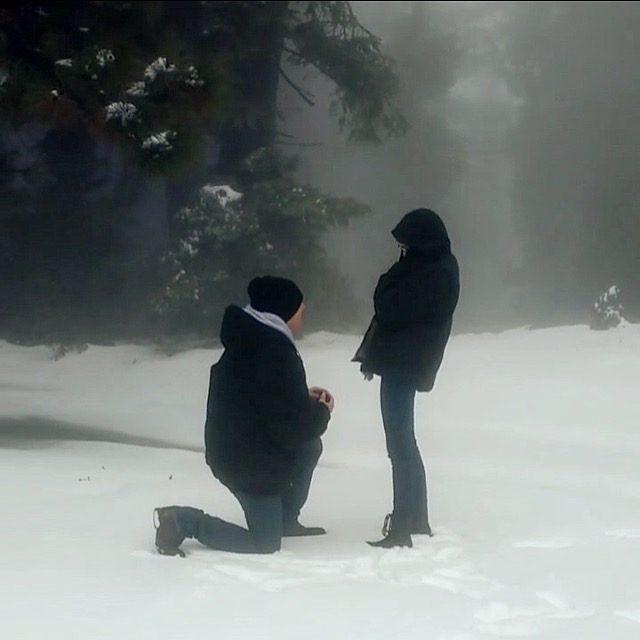 Kristi and Jordain's Engagement in Big Bear, CA