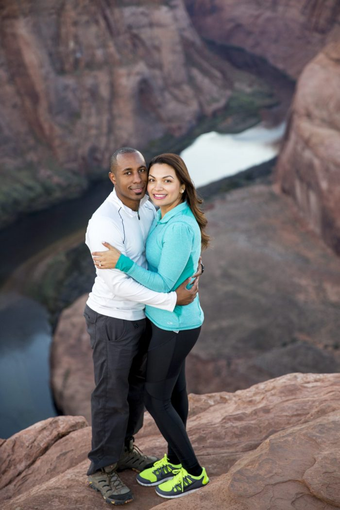 Diana and Chris's Engagement in Horseshoe Bend, Page, AZ