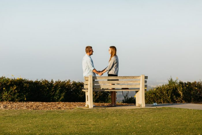 Jenna and Kyle's Engagement in Mount Soledad, San Diego, California