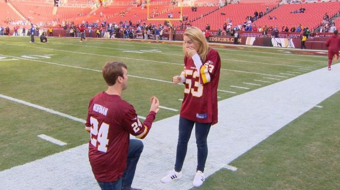 Elizabeth's Proposal in FedEx Field