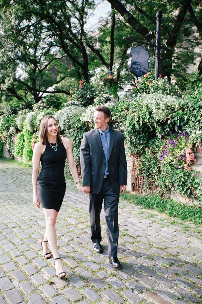 Rachel and Groom's Engagement in The River Cafe, NY