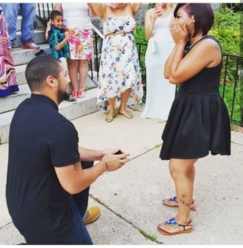 Wedding Proposal Ideas in St. Agnes church West Chester, pa