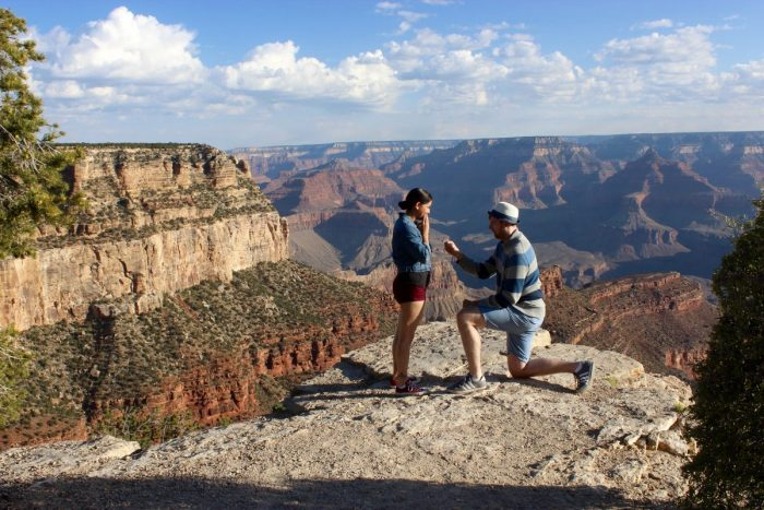 Amanda and Stephen's Engagement in Grand Canyon, AZ