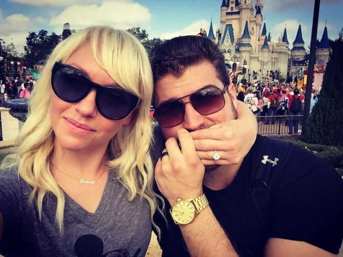 Grace and Conor's Engagement in The Magic Kingdom in Walt Disney World