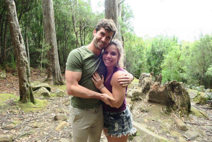 Melanie's Proposal in Bruny Island in Tasmania, Australia